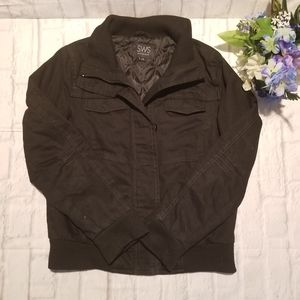 SWS Jacket L Black Zipped Buttoned Outerwear